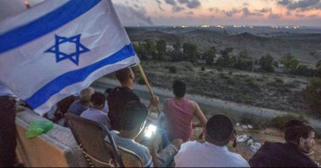 Israelis enjoying the bombing of Gaza